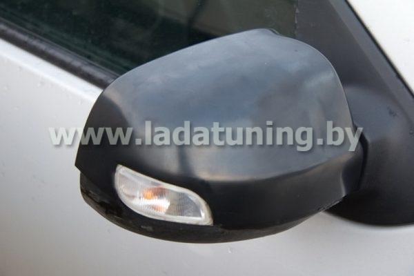 Накладки на зеркала неокрашенные для Renault Logan