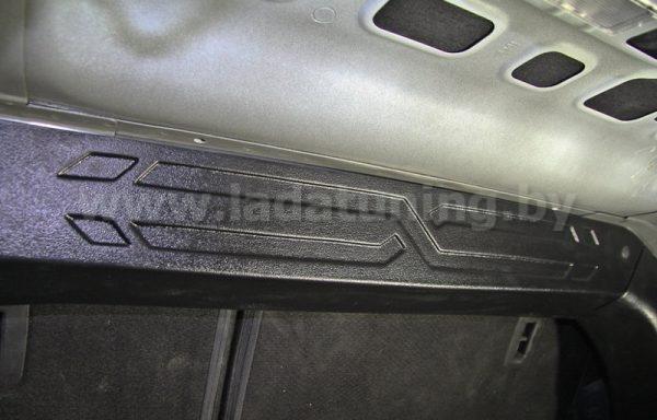 Накладка на перегородку багажника для LADA Vesta Sedan (Лада Веста Cедан) с 2016 г.в.