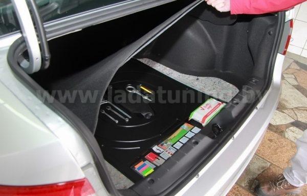 Органайзер Верхний в нишу запасного колеса для LADA Vesta Sedan (Лада Веста Cедан) с 2016 г.в.